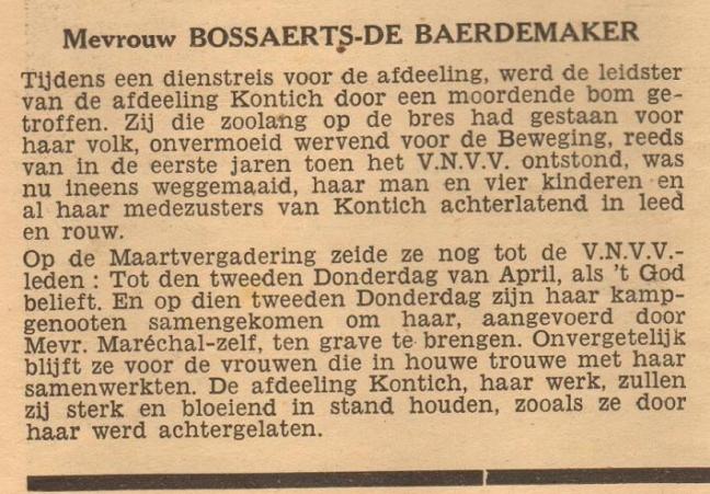 In Memoriam - Bossaerts-De Baerdemaker - Reiling Betsie - Vrouw en Volk - 04-1943
